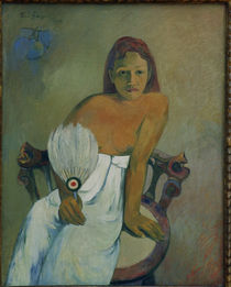 Gauguin / Young Tahitian woman with fan by AKG  Images
