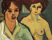 Kirchner / Self-portrait with Model by AKG  Images