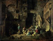 C.Spitzweg, Wäscherinnen am Brunnen von AKG  Images
