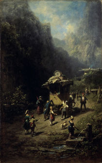 Spitzweg / Travelling Show / Painting by AKG  Images