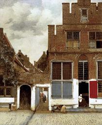 Vermeer, Straße in Delft von AKG  Images