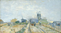 V. van Gogh, Montmartre: Mühlen und Gemüsegärten von AKG  Images