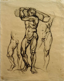 F.Marc, Carrying wood / Drawing 1911 by AKG  Images