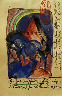 Franz Marc, Horse and house with rainbow by AKG  Images