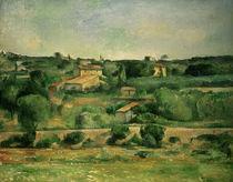 Landscape near Aix-en-Provence / P. Cézanne / Painting, c.1885/88 by AKG  Images
