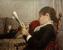 G.Caillebotte, Interieur, Woman Reading. by AKG  Images