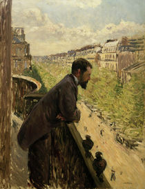 Caillebotte / Man on Balcony / 1880 by AKG  Images