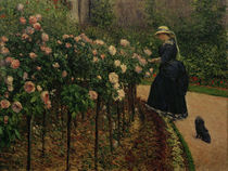 G.Caillebotte, Rosen im Garten von AKG  Images