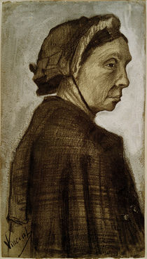 V. van Gogh, Head of a Woman / Draw./ 1882 by AKG  Images