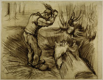 V. van Gogh, Woodcutte / Drawing / 1885 by AKG  Images