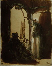 Rembrandt, Three Women at the Door / Draw by AKG  Images