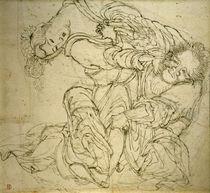 K.Hokusai, Soko kämpft mit seiner Frau by AKG  Images