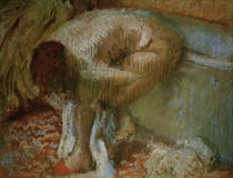 Degas / Woman Drying Feet / Drawing by AKG  Images
