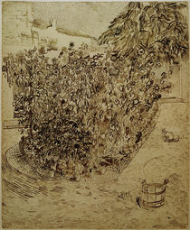 V. van Gogh, Garden with Sunflowers / Draw. by AKG  Images
