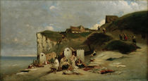 Spitzweg / Women bathing in the sea at Dieppe by AKG  Images