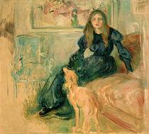 B.Morisot, Junges Mädchen mit Windhund von AKG  Images