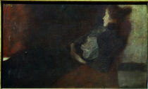Gustav Klimt, Lady at the Fireplace / Paint. /  c. 1897/98 by AKG  Images