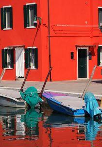 Rotes Haus 2 von Bruno Schmidiger