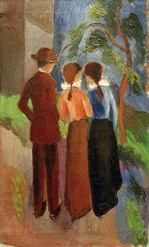 A.Macke, Three taking a walk, 1914 by AKG  Images