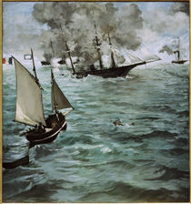 Manet / Battle of Kearsarge and Alabama by AKG  Images