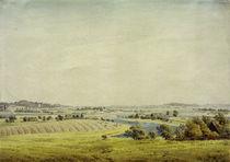 Rügen Landscape (View of Putbus) / C.D.Friedrich / Watercolour, 1824/25 by AKG  Images