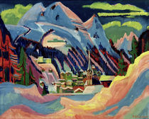Ernst Ludwig Kirchner / Davos in the Snow, 1921. by AKG  Images