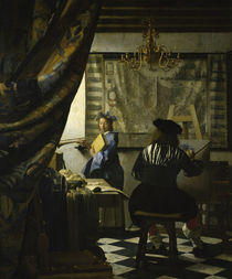 The Art Painting / Vermeer, / Painting, 1665/6 by AKG  Images