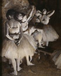 E.Degas, Ballettprobe auf der Bühne von AKG  Images