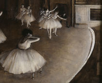 E.Degas / Ballet rehearsal on stage by AKG  Images