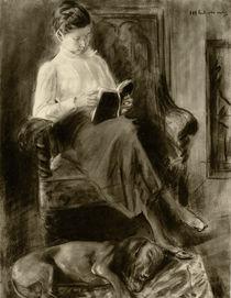 Lesendes Mädchen / Aquarell Max Liebermann von AKG  Images