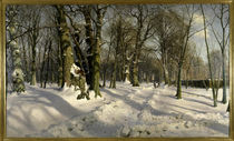 Peder Mørk Mønsted / Snowy Winter Forest in the Sunlight by AKG  Images