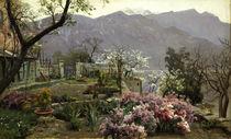 Peder Mørk Mønsted, Flower Garden near Bellagio by AKG  Images