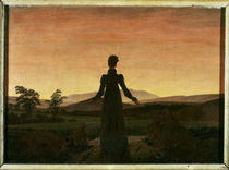 C.D.Friedrich / Woman in Sunset /  c. 1818 by AKG  Images