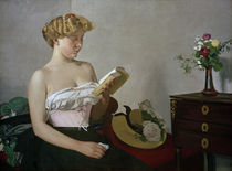 F.Vallotton / Reading woman. by AKG  Images