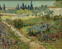 V. van Gogh, Blühender Garten mit Pfad von AKG  Images