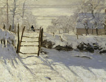 C.Monet / The Magpie / 1868–69 / Detail by AKG  Images