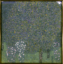 Gustav Klimt / Rose bushes under trees by AKG  Images