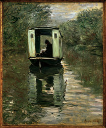 Claude Monet / Le bateau-atelier / 1876 by AKG  Images
