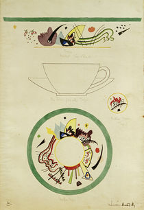 W.Kandinsky, Sketch for a cup and saucer by AKG  Images