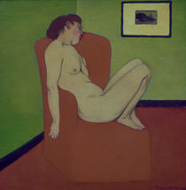 F.Vallotton / Nude woman on a chair by AKG  Images