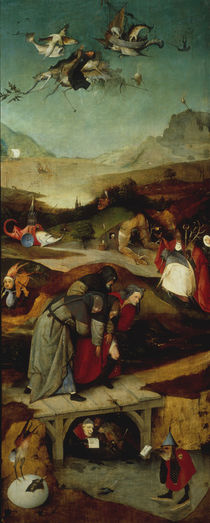 Flight and Fall of St Anthony / H. Bosch / Triptych by AKG  Images