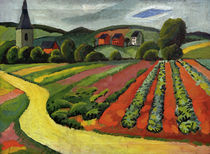 A.Macke / Landscape with Church and Path by AKG  Images