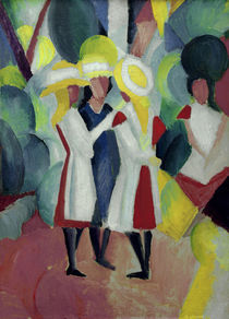 Macke / Three girls with yellow... by AKG  Images