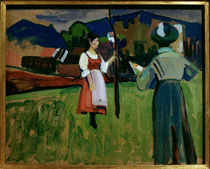 Gabriele Münter / Painting by Kandinsky by AKG  Images