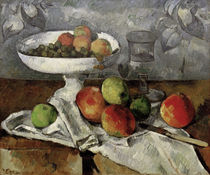 P.Cézanne / Still life with fruit bowl. by AKG  Images