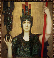 Franz von Stuck, Pallas Athene / painting by AKG  Images