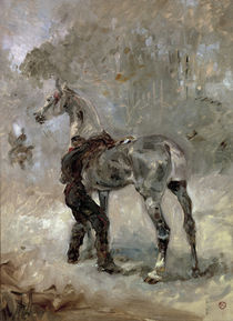 Toulouse-Lautrec, Artilleryman Saddling his Horse / 1879 by AKG  Images