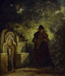 Man Sitting by a Well / C. Spitzweg / Painting c.1850 by AKG  Images