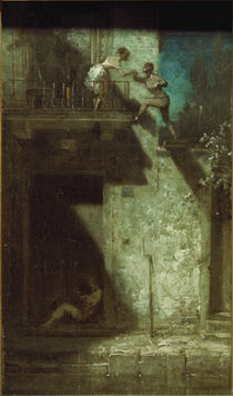 Spitzweg / Rendezvous at Night /  c. 1875 by AKG  Images