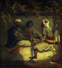 Turks in a Arbour / C. Spitzweg / Painting c.1838 by AKG  Images